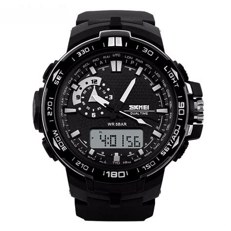 Casio Analog Jam Tangan Unisex Hitam Genuine Leathe Diskon 1 casio w s220 1bv tough solar digital jam tangan pria resin hitam harganyata