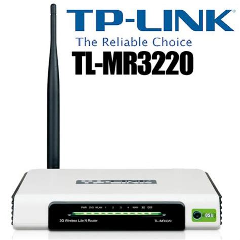 Tp Link 3g 3 75g Wireless N Router Tl Mr3220 Tp Link 4 Port 3g 3 75g Wireless N Router Tl Mr3220 The Freedom Of 3g Connections