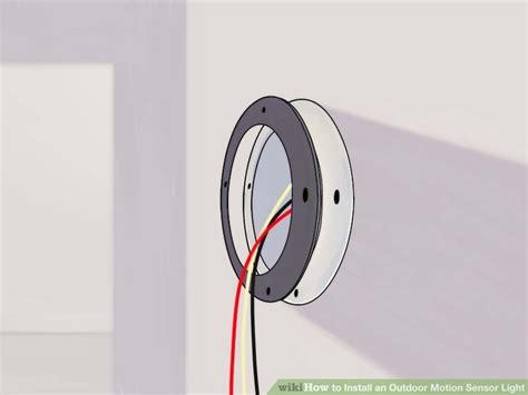 how to install motion sensor light how to install an outdoor motion sensor light with pictures