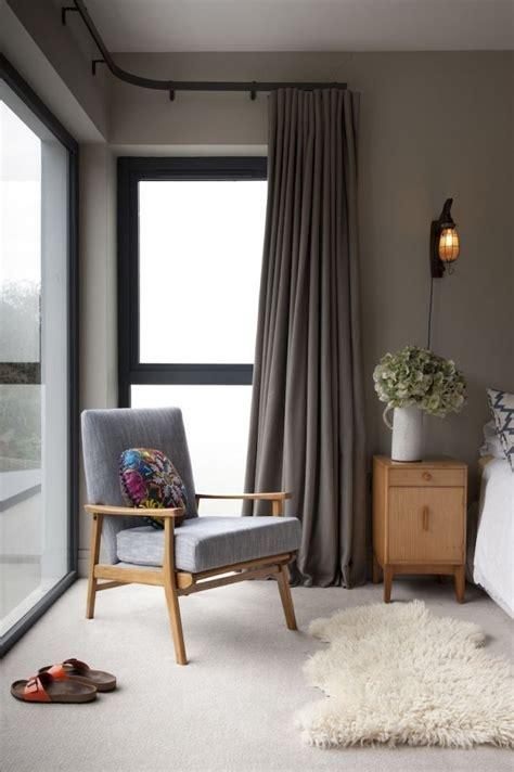 Corner Window with Corner Curtain Design Ideas   Home