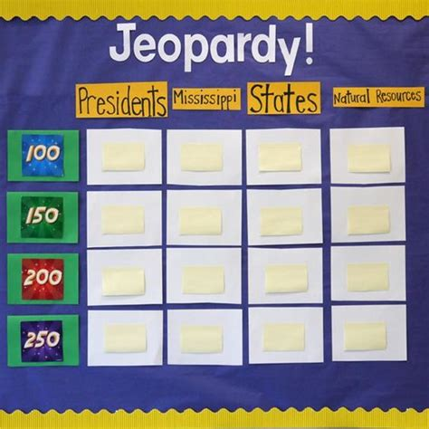 Classroom Jeopardy Make It An Ongoing Game On Bulletin Classroom Jeopardy Powerpoint