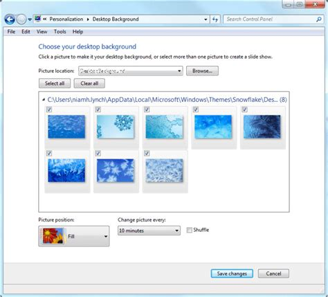 themes for windows 7 filehippo get free to windows snowflakes and frost theme from