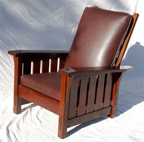 stickley reclining chair voorhees craftsman mission oak furniture gustav stickley