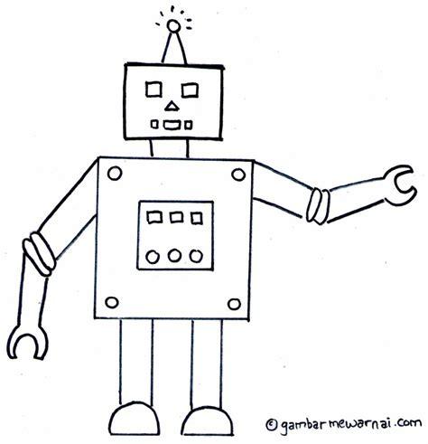 Belajar Membuat Robot Untuk Anak Sd | gambar mewarnai robot gambar mewarnai