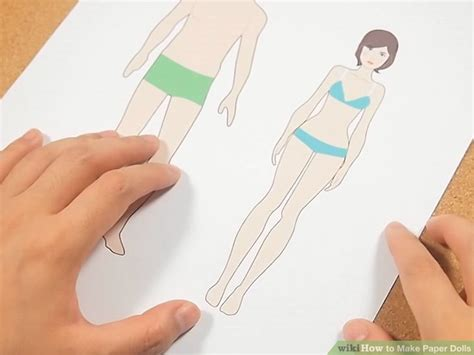 How To Make A Paper Doll Step By Step - 3 ways to make paper dolls wikihow