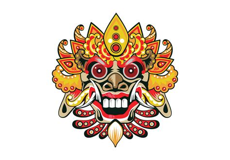 Topeng Vector decorative barong vector free vector stock