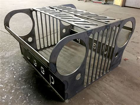 grill for pit atoz fabrication jeep grill pit kit