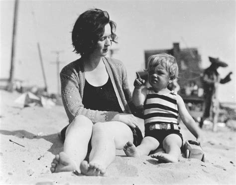 Marilyn Monroe S Mother | a young marilyn monroe with her mother at the beach