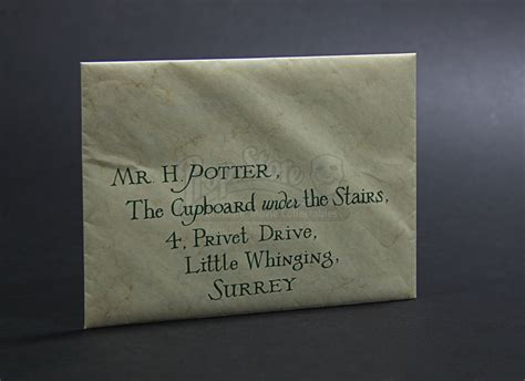 Hogwarts Acceptance Letter And Envelope harry potter and the philosopher s 2001 hogwarts acceptance envelope with wax seal