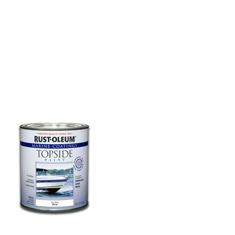 rust oleum marine 1 qt white semi gloss topside paint 207000 the home depot