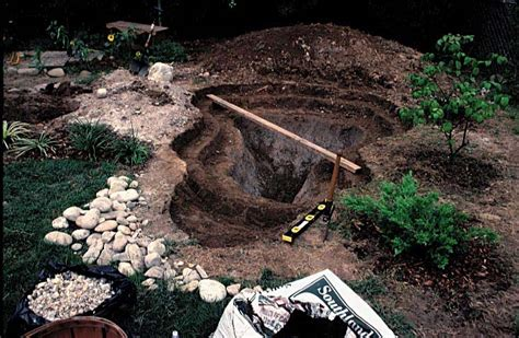 digging a backyard pond dig