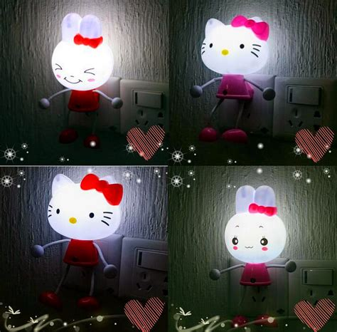 hello kitty home decor hello kitty sensor us eu plug led photoreceptor night