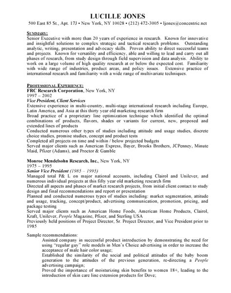 Resume Template Research by Research Director Free Resumes