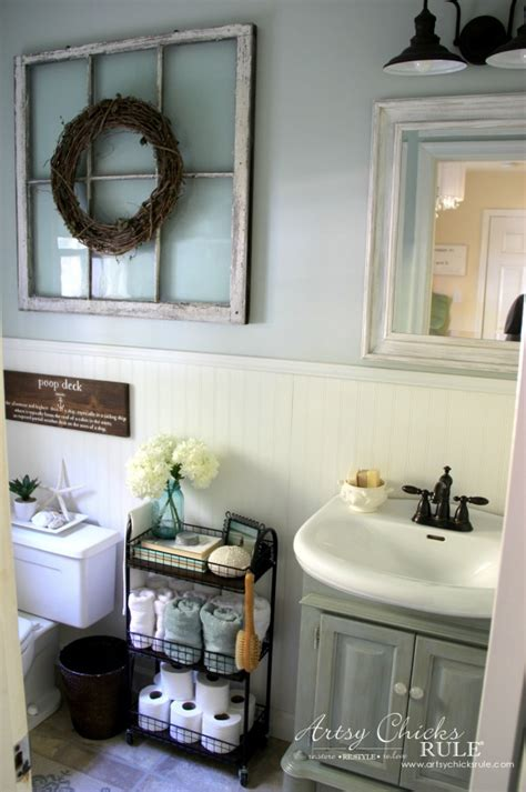 coastal style decorating ideas coastal farmhouse bath reveal artsy chicks rule 174