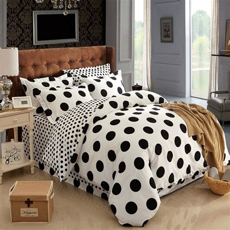 cotton black and white polka dot bedding sets bed set