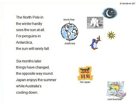 Calendar Rhyme National Science Week Science Rhymes Scientific Poetry