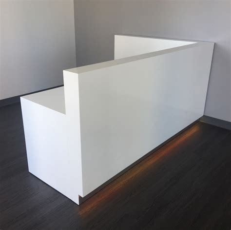modern white reception desk modern custom reception desk