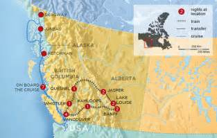 map of us and canada west coast canada rockies tour west coast canada