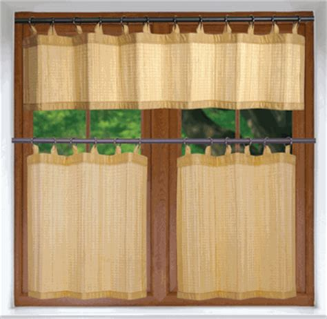 Bamboo Kitchen Curtains Kitchen Curtains Versailles Bamboo Kitchen Curtains Or