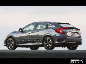 2017 honda civic hatchback rendered early 2017 launch