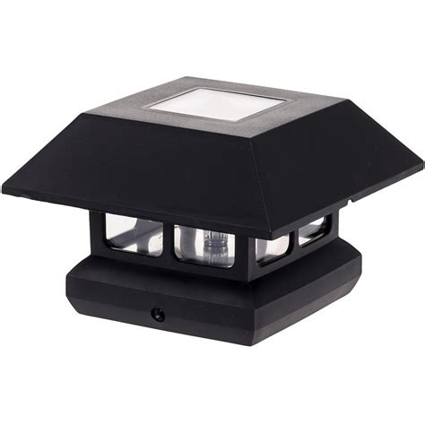 Greenlighting 4 In X 4 In Solar Powered Integrated Led Solar L Post Light