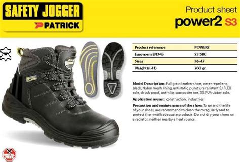 Safety Jogger 2 S3 Size 40 safety shoes jogger power2 s3 size 38
