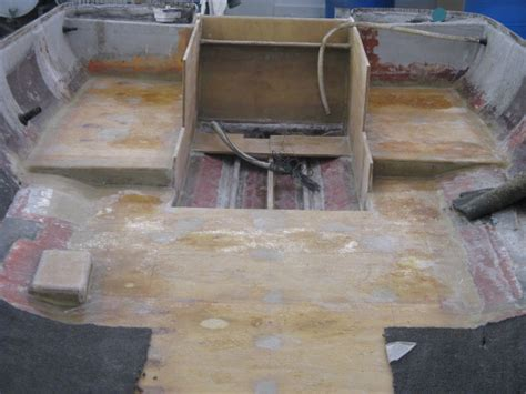 How To Fiberglass A Boat Floor by New Transom Floor And Stringers Starboard Marine Repair