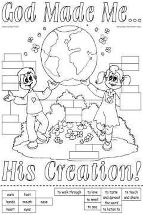 God Made Me Worksheet by 138 Best Images About God Made Me Senses On