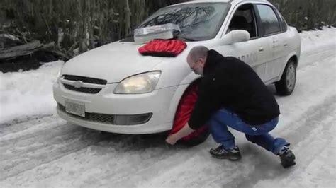 cadenas textiles para nieve carrefour cadenas textiles isse classic para hielo y nieve youtube