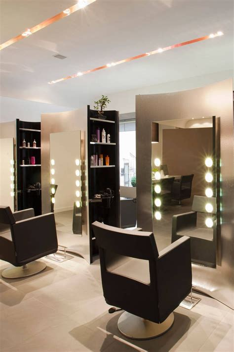 interior design stylist small ideas for hair salon interior design with recessed lighting and modern chairs decorating