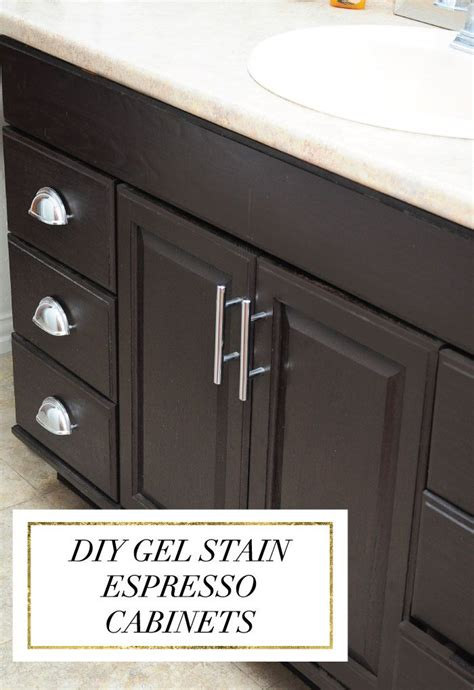 staining kitchen cabinets espresso staining oak cabinets an espresso color diy tutorial
