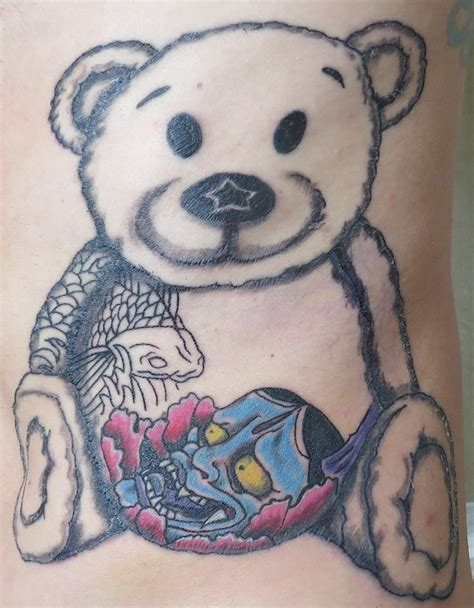 yakuza tattoo bear come on and post your tattoo pix page 33 pinkbike forum