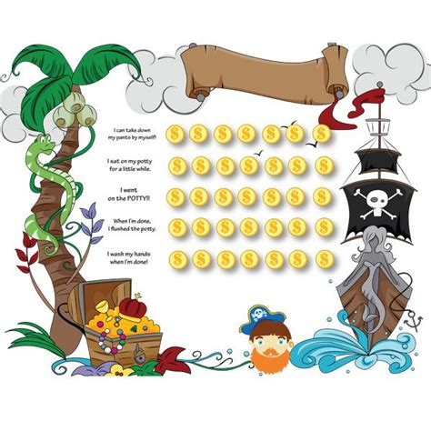 printable pirate reward charts free pirate potty chart collect the coins potty scotty