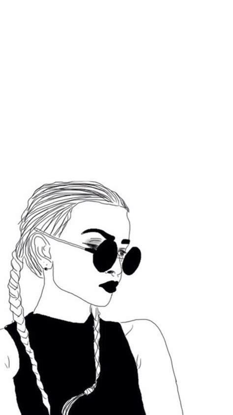 wallpaper for iphone 6 tumblr black and white lockscreens outlines girls lockscreens 2 reblog or fav