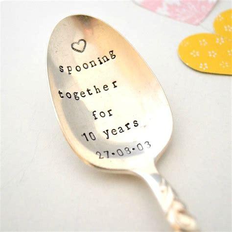 hand stamped vintage anniversary spooning  spoon