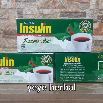 Teh Celup Insulin Diabetes Diabetea Insuline Darusyifa Herbal jual teh celup diabetes daun insulin di lapak yeye herbal