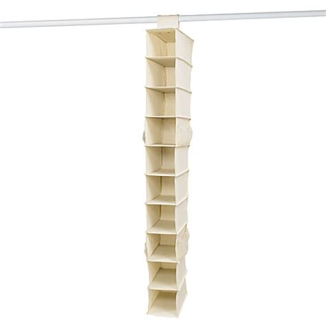 canvas shoe storage 10 shelf canvas shoe organizer bed bath beyond