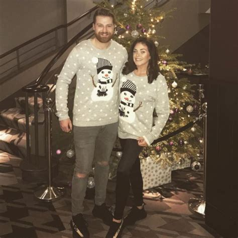 Boyfriend And Matching Jumpers Moffatt And Boyfriend Luke Crodden Get Festive In