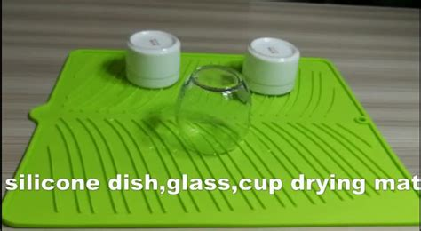 Dish Drying Mat For Wine Glasses - silicone dish drying mat 100 eco friendly kitchen dish