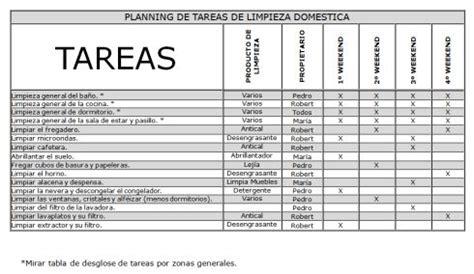 Resumen 5 Horas Con Mario by Planning De Limpieza Y Tareas Domesticas Calendario