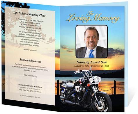 creative memorials  funeral program templates