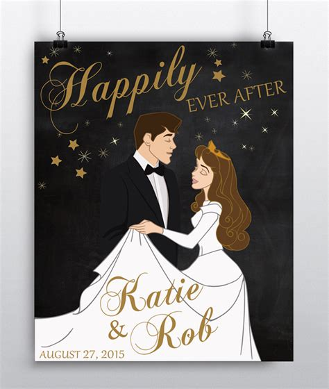 Wedding Gift Print by Disney Wedding Gift Custom Wedding Gift Print Couples