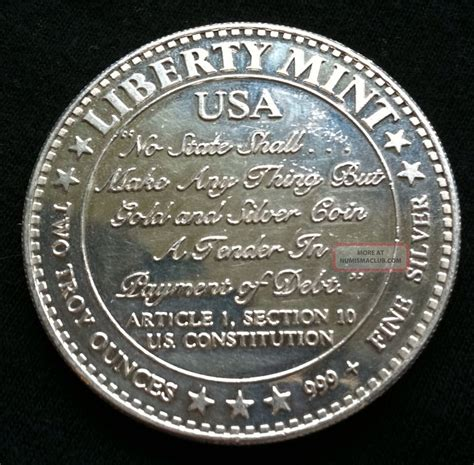 Us Constitution Article 1 Section 10 by 2 Oz 999 Silver Liberty Article 1 Section 10 U S Constitution
