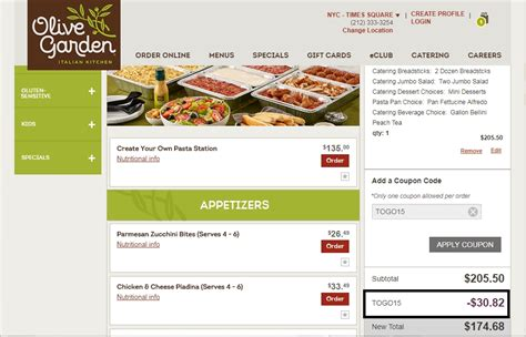 How To Activate Olive Garden Gift Card - 15 off olive garden coupon code olive garden 2018 codes dealspotr