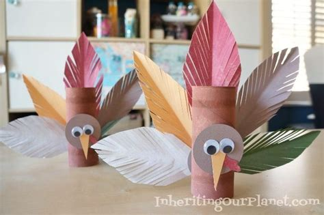 Toilet Paper Roll Thanksgiving Crafts - turkey toilet paper roll craft diy inspired
