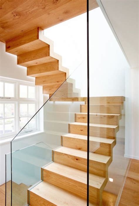 zig zag stair zig zag wooden stairs w glass railing stair