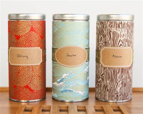 Tea Tin diy japanese washi tea tins thirsty for tea