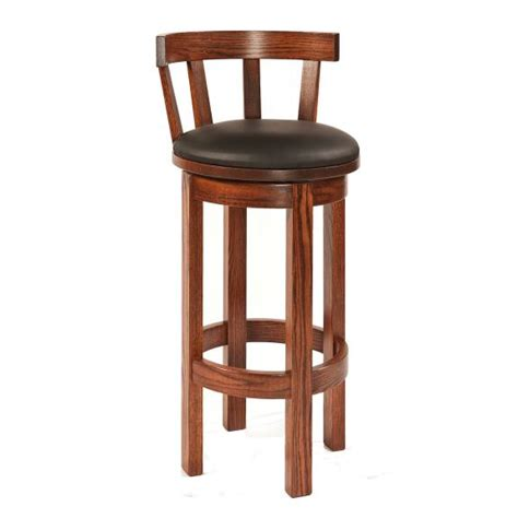 Maple Bar Stools With Leather Seats by Barrel Bar Stool With Leather Seat Clear Creek Amish
