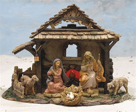 nativity decor manger decorations lights card and