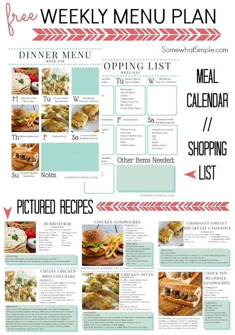 simple dinner menus dinner menu week 1 somewhat simple